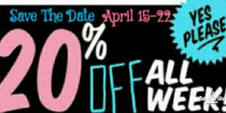 Save the date APRIL 15-22