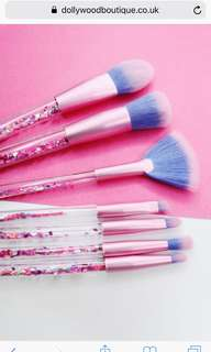 Limecrime glitter aquarium brush set 7 pieces