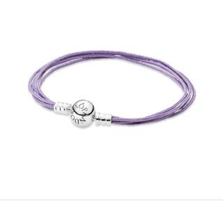 Pandora Lavender String Bracelet