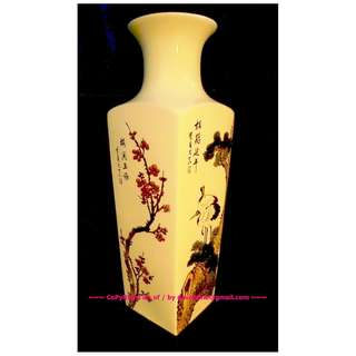 ~~~VeRy RaRe SquaRe base PorCelaiN VaSe  $98 ~~~