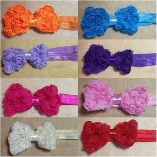 Kids Hair Accessories - Hair Band - Ribbon Design - Comes in 8 colours