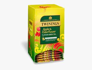 Twinings APPLE AND ELDERFLOWER GREEN TEA - 20 PYRAMID BAGS (INDIVIDUALLY WRAPPED) 川寧蘋果接骨木花茶20個茶包裝(獨立包裝)