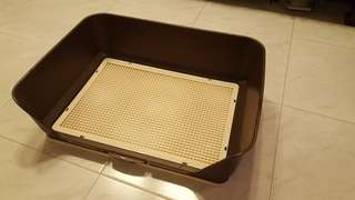 Dog Pee Tray - with wall protector