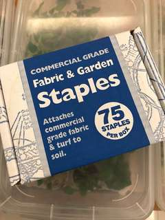 Fabric and garden staples commercial grade