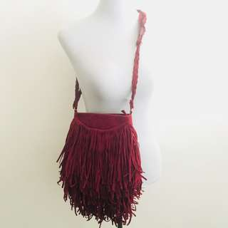 cotton on fringe bag