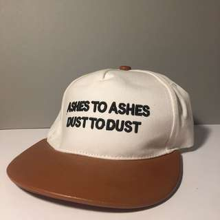 Ashes to ashes dust to dust white SnapBack cap