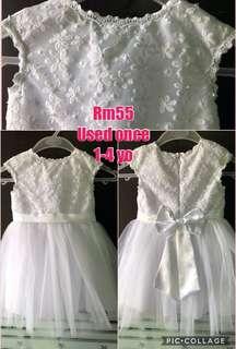 White lace princess dress