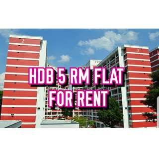 TOH YI 5 RM FLAT FOR RENT