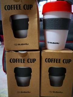 Subaru keep warm coffee cups.