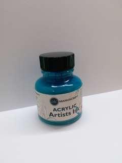 淺藍墨水 玻璃筆,鋼筆都用到