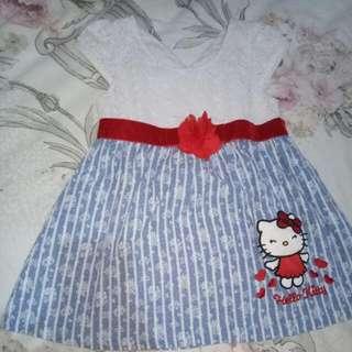 Dress Denim Hello Kitty