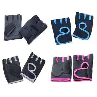 🚚 Fitness Gym Half Finger Gloves Velcro Straps