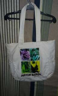 Authentic Justin Bieber Tote Bag with JB's signature