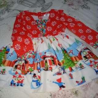 Dress Lengan Panjang Natal