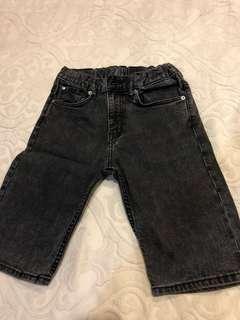 H&m black jeans shorts