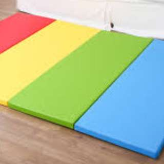 Foldable color thick play mat for babies