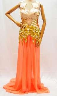Gold Fish long dress