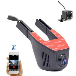 Dashcam wifi front with rear cam