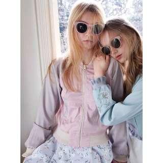 🚚 日本正品Dazzlin外套兩穿two way刺繡薄荷綠防曬外套