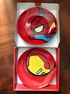 Ironman Spiderman plates 瓷碟兩件裝