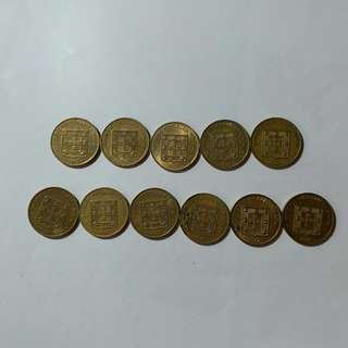 【錢幣收藏】澳門舊硬幣:壽字版5亳(11個)
