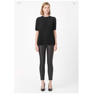 COS pleated black top