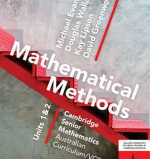 BRAND NEW Cambridge VCE Maths Methods unit 1&2