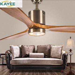 Designer Fan New LED Ceiling Fan For Living Room 220V Wooden Ceiling Fans With Lights 52 Inch Blades Cooling Fan Remote Fan Lamp