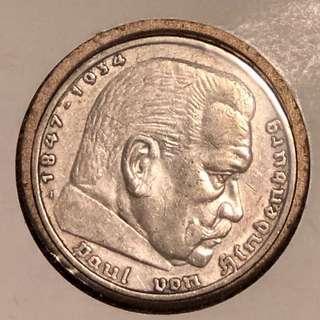 1936年A德國銀幣