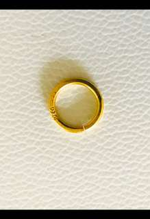 916 Gold Amulet Ring with (916) Stamp