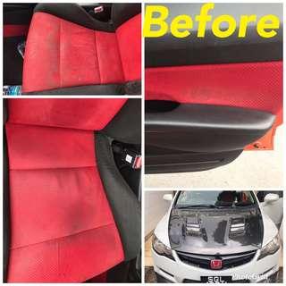 Fabric seat wash