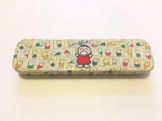 Sanrio vintage 大口仔 鐵筆盒 1988
