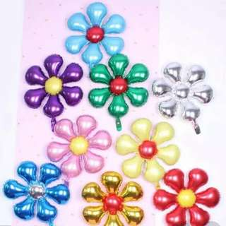 Party Foil Balloons - Colourful Flowers