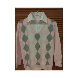 Kemeja semi sweater