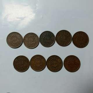 澳門舊硬幣:1952年1亳