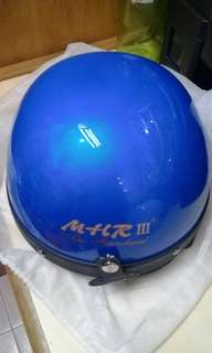 MHR helmet light blue half cap motorcycle motorbike
