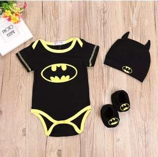 Batman Romper 3pcs