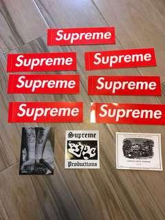 Supreme stickers 貼字