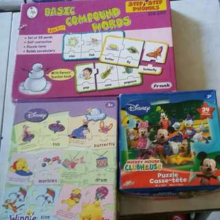 ASSORTED CHILDREN PUZZLES AND CARDS