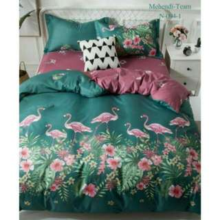 NEW FREE POS Ready Stock Comforter Bedsheet Set 6 In 1