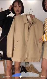 🚚 92pleats 收 1990's拉鍊領子夾克外套 米