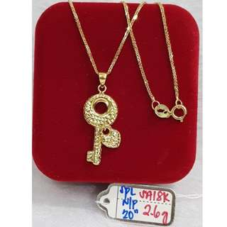 18K SPECIAL SAUDI GOLD NECKLACE (CHAIN & PENDANT) >>