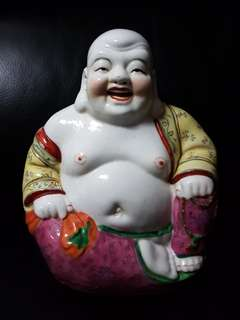 Vintage 1950-56 Porcelain Laughing Buddha (1950-56 江西名瓷印坯83弥勒佛)