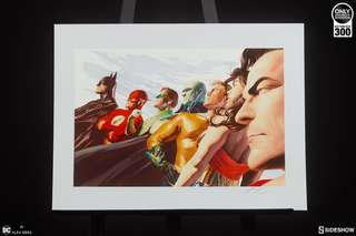 Sideshow Alex Ross Liberty and Justice: JLA Unframed Art Print