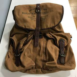 Replay vantage back bags - canvas with leather