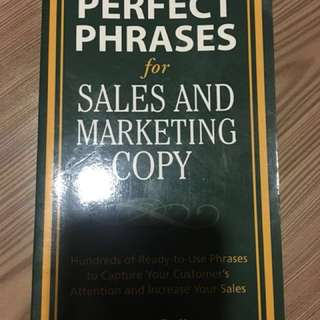 Perfect Phrases for Sales & Marketing Copies+Business Letter - 2 books at $15