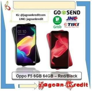Oppo F5 6/64GB Red / Black Cash dan Kredit Tanpa Kartu Kredit