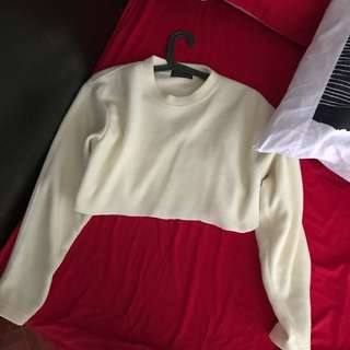 CROPPED SWEATER LONGSLEEVES FITS S