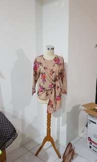 Tied floral tops
