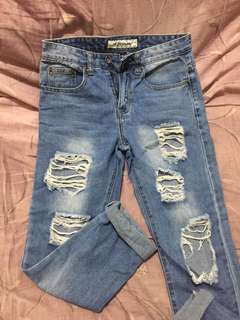 Highwaist ripped jeans